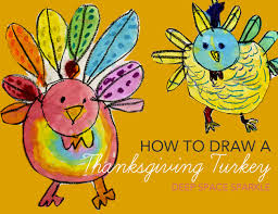 how to draw paint a turkey space sparkle