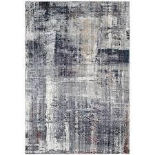 Area Rug 9 X 12 Safavieh Monray Modern Abstract Polyester Charcoal Ivory Area Rug