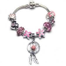 european charm bracelet beads images Silver dragonfly bracelet pearl bracelet rope jewelry JPG