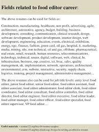 Editor Resume Sample by Top 8 Food Editor Resume Samples