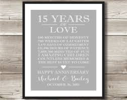 15 year anniversary gift ideas for 15 year anniversary etsy