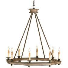 Currey Lighting Fixtures Currey Company 9799 Bonfire 8 Light Chandeliers In Antique Rust