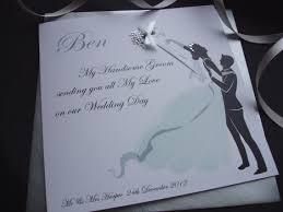 Wedding Day Card For Groom Thank You Bride Groom To Be Card Handmade Cards Pink U0026 Posh
