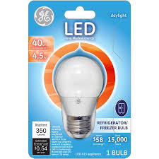 ge refrigerator light bulb replacement ge 40w equivalent uses 4 5w daylight a15 led appliance bulb bulb