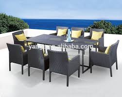 8 Seater Patio Table And Chairs 8 Seater Italian Rattan Dining Table Chairs Garden Furniture Buy 8