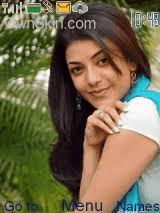 kajal name themes kajal agarwal mobile themes for nokia asha 203