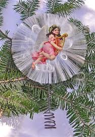 Christmas Decorations Angel Hair by Vintage 30s 40s Halo Angel Christmas Tree Topper Composition Doll