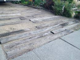 decomposed granite and wood driveway strong enough for an rv