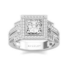 cubic zirconia halo engagement rings sterling silver 1 5 ct princess cut white cz cubic zirconia halo ring