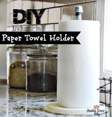 diy industrial paper towel holder shabby grace