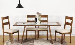 buy larne 6 seater dining table glass top online in india
