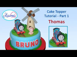thomas the train with gumpaste tren thomas con pasta de goma