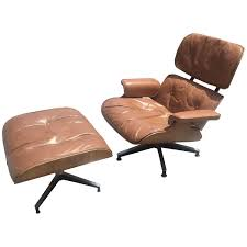 early eames lounge and ottoman for herman miller in original