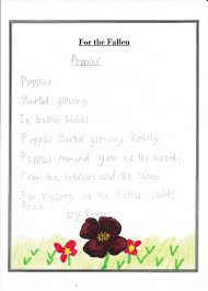 denver primary poems for remembrance day