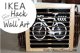 diy wall art ikea hack find it make it love it ikea hack wall art