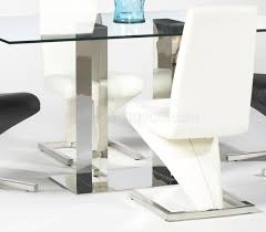 glass top modern dining table w optional side chairs