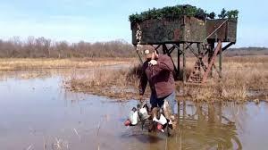 Ez Duck Blind Swamp Rig Demonstration For Duck Hunting And Decoy Handling Youtube