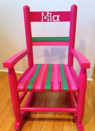 Toddler Rocking Chairs Custom Made Children U0027s Rocking Chair Painted With Flower Fairies