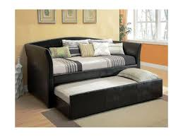Black Daybed With Trundle Black Daybed With Pop Up Trundle Home Designs Insight Suede