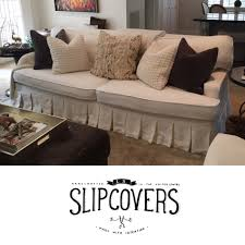 ls that hang over couch cream linen sofa slipcover with box pleat skirt and welt cord edging