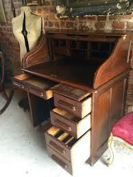 Old Roll Top Desk Antique Roll Top Desk Oak Writing Desk Edwardian At 1stdibs