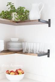 shelf ideas for kitchen corner open shelving kitchen home design