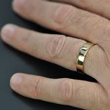 5mm ring 5mm wide mens gold ring 18k yellow gold wedding band