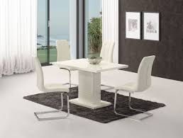 modern white gloss dining table livio white high gloss contemporary designer 120 cm compact dining