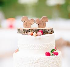 squirrel cake topper squirrel cake topper mini woodland wedding by againstthegrainnc