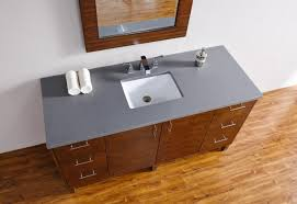 Bathroom Vanities 60 by Abstron 60 Inch Walnut Finish Single Sink Modern Bathroom Vanity