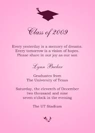 graduation invitation sle afoodaffair me