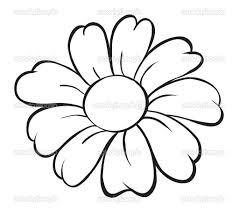 simple drawing of a flower drawing art gallery