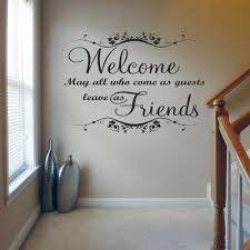 welcome may all who come v1 wall decal sticker quote lounge welcome may all who come wall decal sticker quote lounge living room bedroom medium