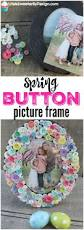 diy spring button picture frame button crafts mantels and easter