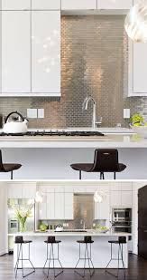 kitchen with stainless steel backsplash white kitchen stainless steel backsplash kitchen backsplash