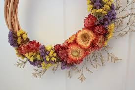 flower wreath dried flower wreath easy craft idea to enjoy summer blooms all