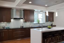 modern kitchen with cherry wood cabinets cherry cabinets and white countertops bethel ct rye ny