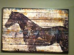 fenced in outdoor art horse woods and barn wood decor fenced in outdoor art