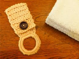 pattern crochet towel holder towel holder
