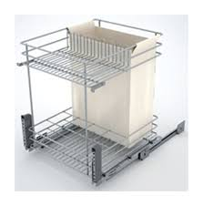 panier coulissant pour meuble de cuisine combine bas coulissant bouteille fil chrome pour meuble de