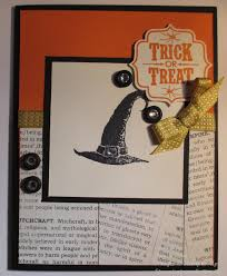 thanksgiving card sentiments trick or treat with stampin u0027 up stamping imperfection