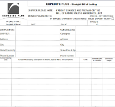 Bill Of Lading Template Excel Bill Of Lading Template In Excel