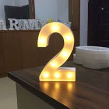 marquee numbers with lights numbers led night light for birthday wedding party diy wall