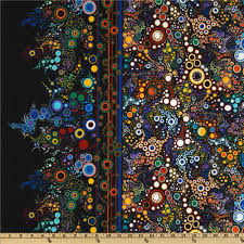 Home Decor Fabric Stores Near Me Effervescence Single Border Mod Bubbles Primary Discount