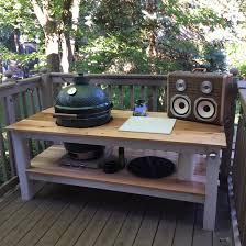 diy grill table plans big green egg diy table album on imgur