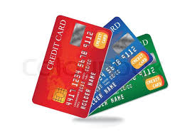 debit cards credit card and debit card vector images stock vector colourbox