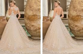 blush champagne and ivory 2 in 1 wedding dress casablanca