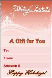 xmas gift certificate
