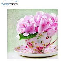 free shipping flowers ᗜ Lj oneroom free shipping 5d diy diamond painting russian cup