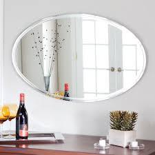 White Oval Bathroom Mirror Elegantoval Bathroom Mirrors Oval Fresh Mirror White Wall Design